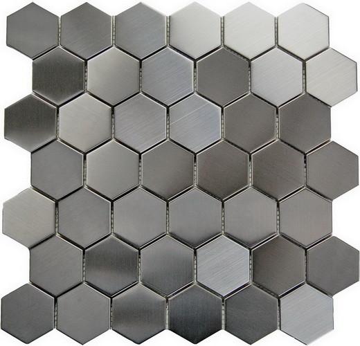 oddysey hexagon mosaic stainless steel tile single piece