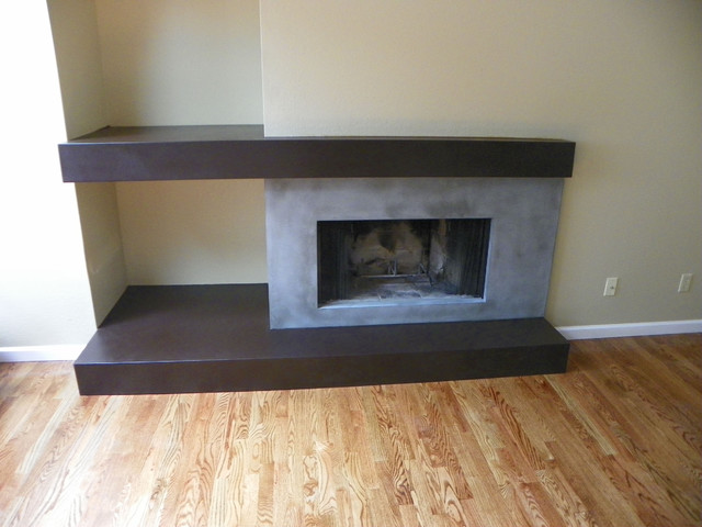 Concrete fire pits and fireplace surrounds - Modern - Denver - by ConcretePete LLC