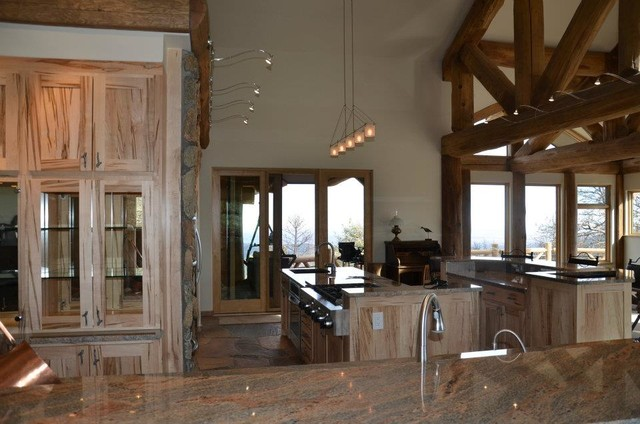 Inspiration for a rustic kitchen remodel in Denver