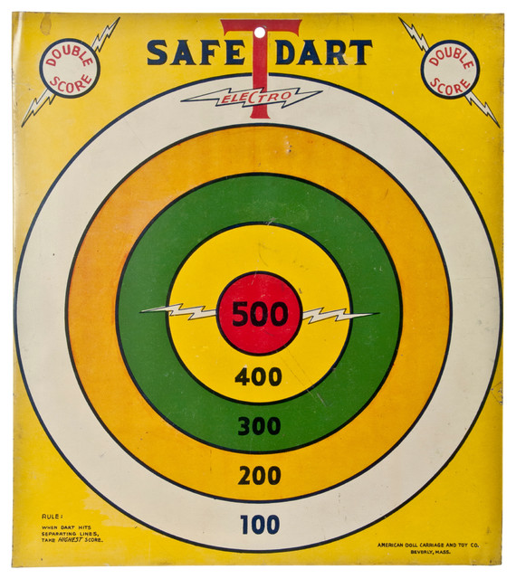 """Consigned Vintage """"Safe-T-Dart"""" 2-Sided Game Board - Contemporary - Novelty Signs - by ..."""