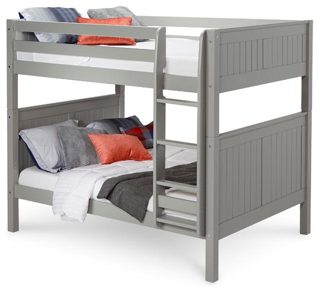 Ketchum Bunk Bed, Gray, Full.