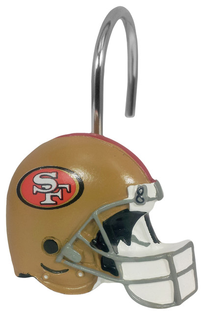 49ers Shower Curtain Rings - Contemporary - Shower Curtain Rings ...