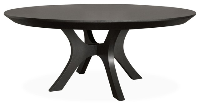 Palma 72 Round Dining Table Ebony Oak