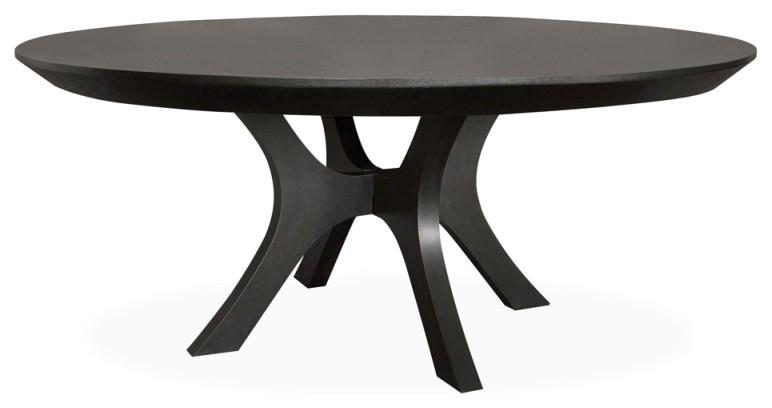 Palma 72 Round Dining Table Ebony Oak Transitional Dining Tables By Furniturologie Inc