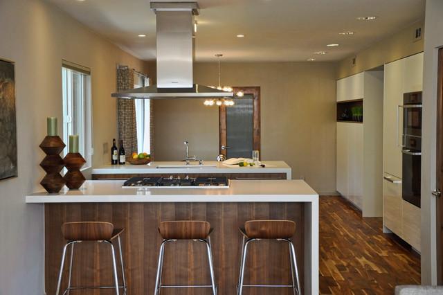 Mid century modern open concept kitchen and dining room modern kitchen los angeles by l2 - Modern house kitchen interior design ...