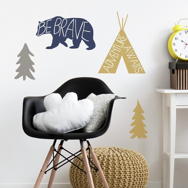 Wondrous Adventure Awaits Animal Peel And Stick Giant Wall Decals Theyellowbook Wood Chair Design Ideas Theyellowbookinfo
