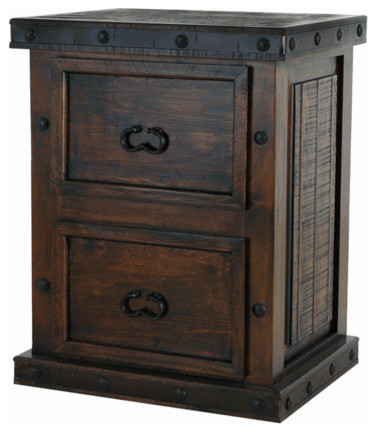 Merveilleux Southwestern Rustic 2 Drawer File Cabinet