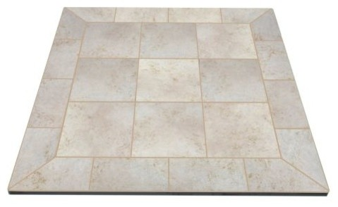 "Ny Hearth Navajo Nero 54""x54"" Tile Hearth Pad, Corner"