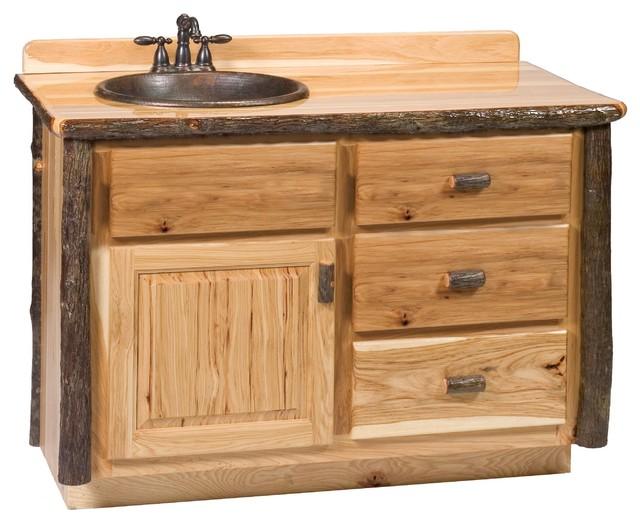 Hickory Log Vanity 36 42 48 Without, Log Bathroom Vanity