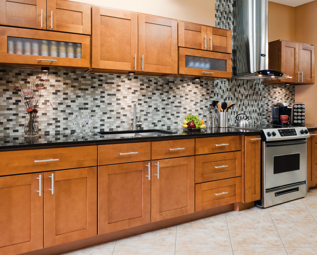 Walnut Shaker Collection   RTA Kitchen Cabinets In Stock Contemporary