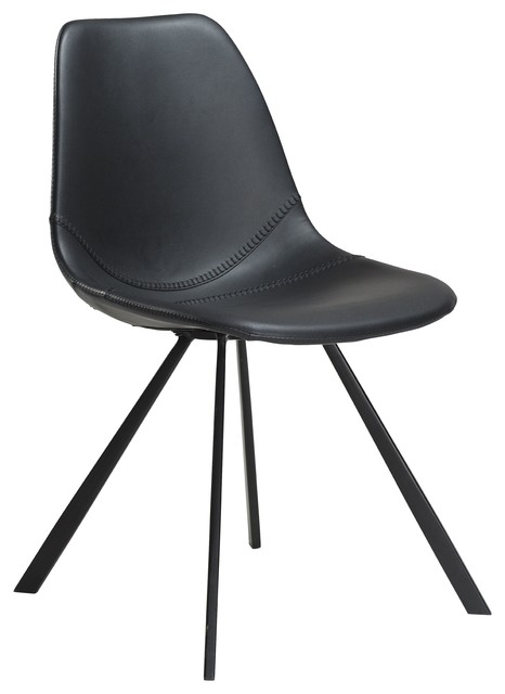 Dan-Form Pitch Upholstered Chair With Metal Legs - Contemporary ...