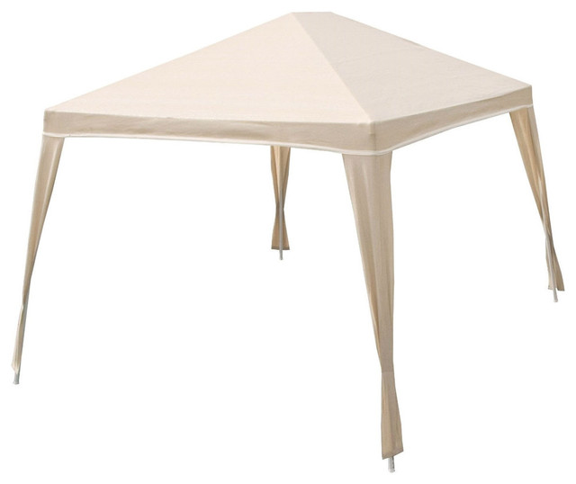Weather Resistant 10&x27;x12&x27; Gazebo With Uv Blocking Canopy, Camel.