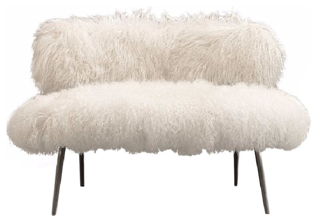 Nepal Faux Fur Chair Modern Armchairs And Accent Chairs
