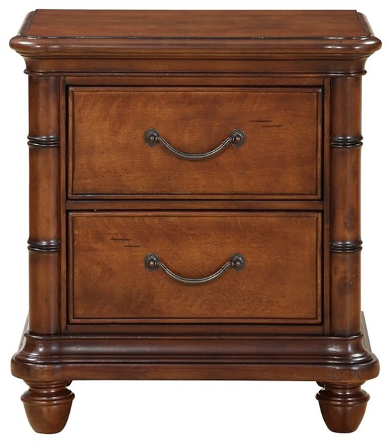 Isle Of Palms Drawer Nightstand, Brown.