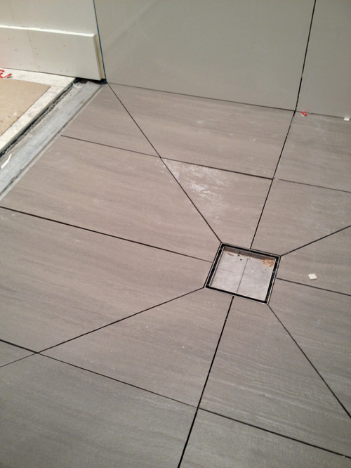 Bathroom Tile Floor Drain : Using diagonal cuts to slope your shower floor planning
