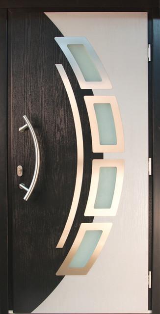 Composite modern front entry door modern front doors for Modern single door design