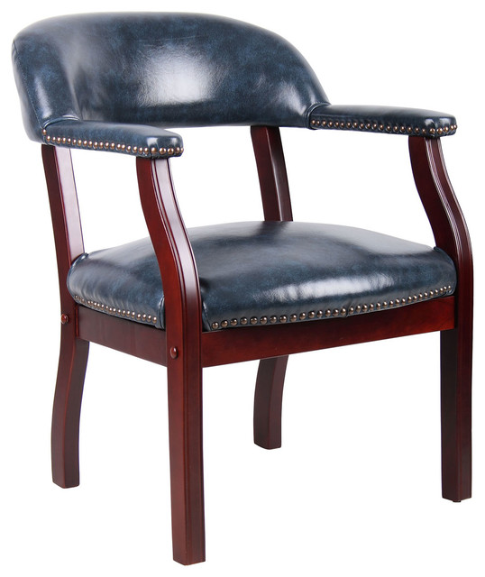 Captains Arm Chairs ~ Boss captain s chair traditional armchairs and accent