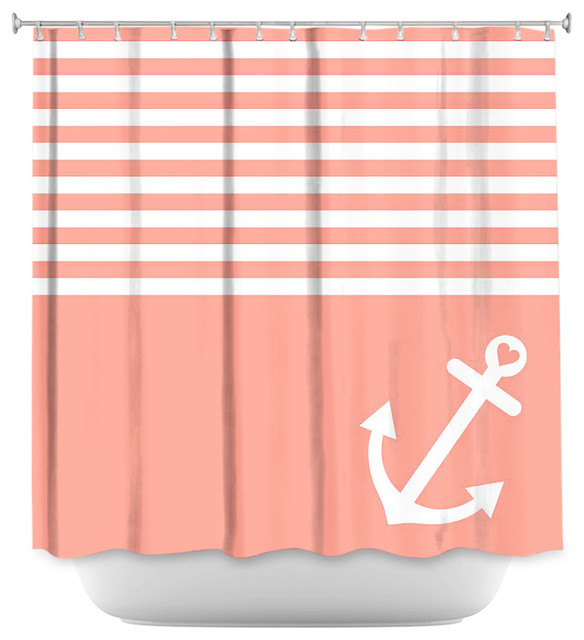 shower curtain unique from dianoche designs coral love anchor nautical
