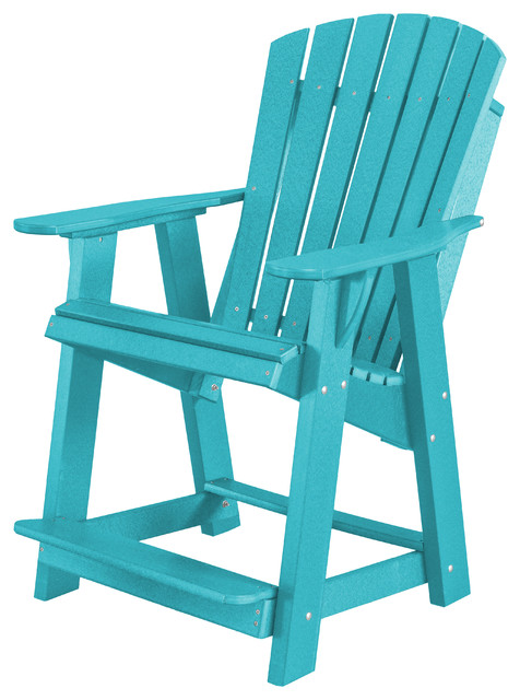 Awe Inspiring Heritage High Adirondack Chair Aruba Blue Andrewgaddart Wooden Chair Designs For Living Room Andrewgaddartcom