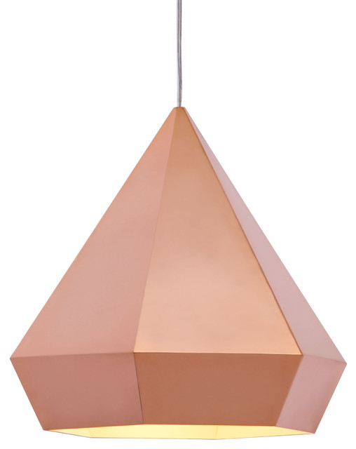 Blushing Ceiling Lamp Rose Gold Contemporary Pendant