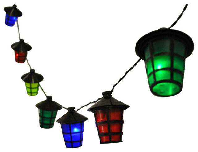 Kingfisher 40 Multi-Coloured LED Lantern String Lights