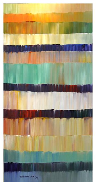 Large 24x48 Original Abstract Painting Impasto Modern Wall Art By Thomas John.