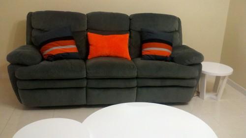 Orange Or Grey Carpet For A Sofa Living Room