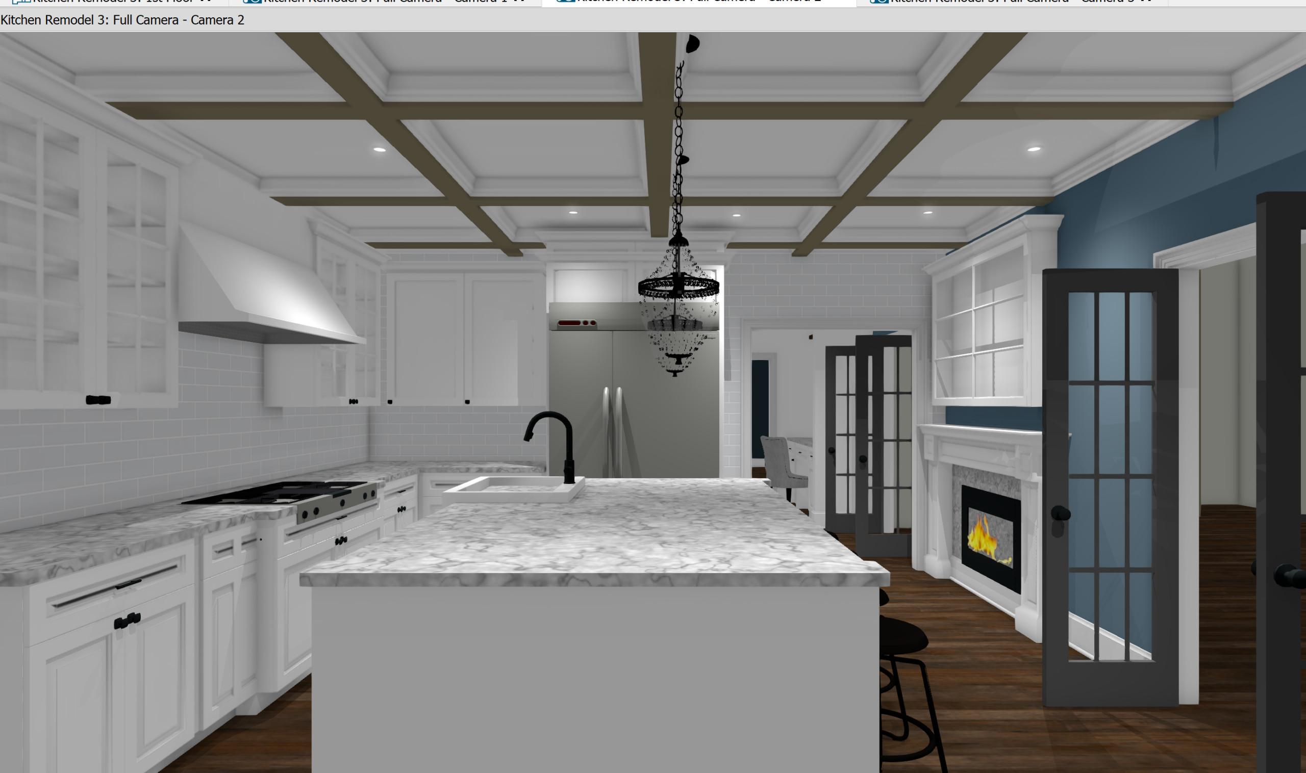 Conceptual Kitchen Design Ken Caryl Residence