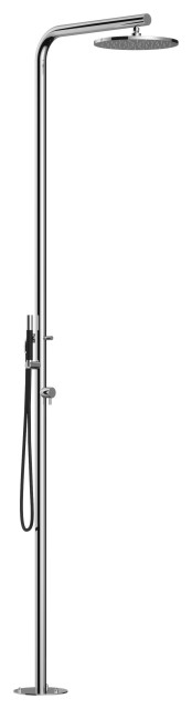 """""""Classy"""" Free Standing Shower Column- Hot and Cold, Hand Spray and Hose"""