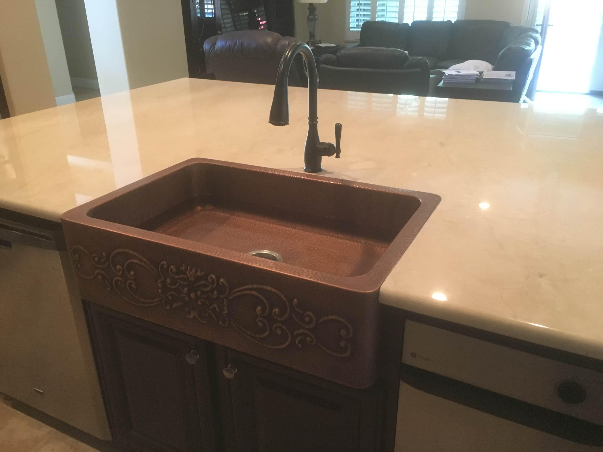 San Clemente Marble Kitchen Counter