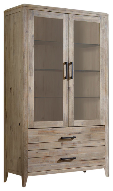Harbourside Curio Unit / 2 Drawer, 2 Door.