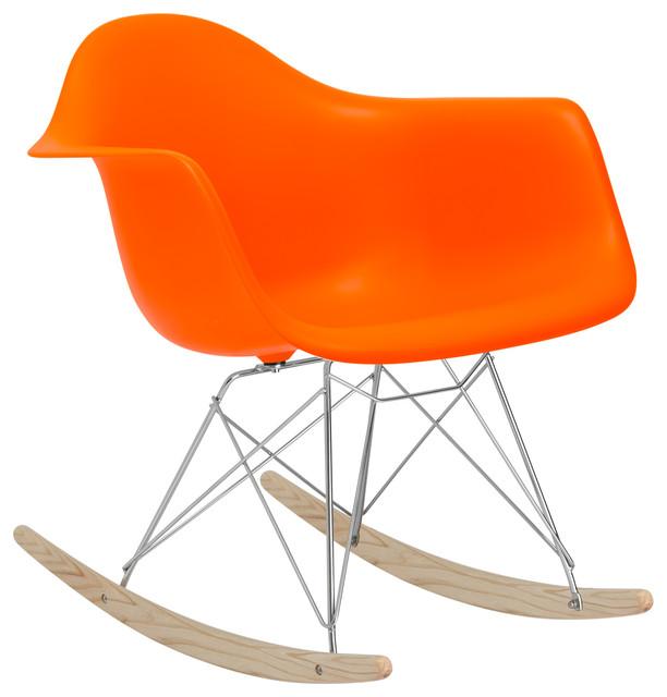 Shop Houzz   First of a kind Rocker Lounge Chair, Orange ...