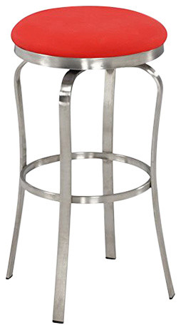 Swell Somette Modern 30 Backless Upholstered Bar Stool Red Machost Co Dining Chair Design Ideas Machostcouk