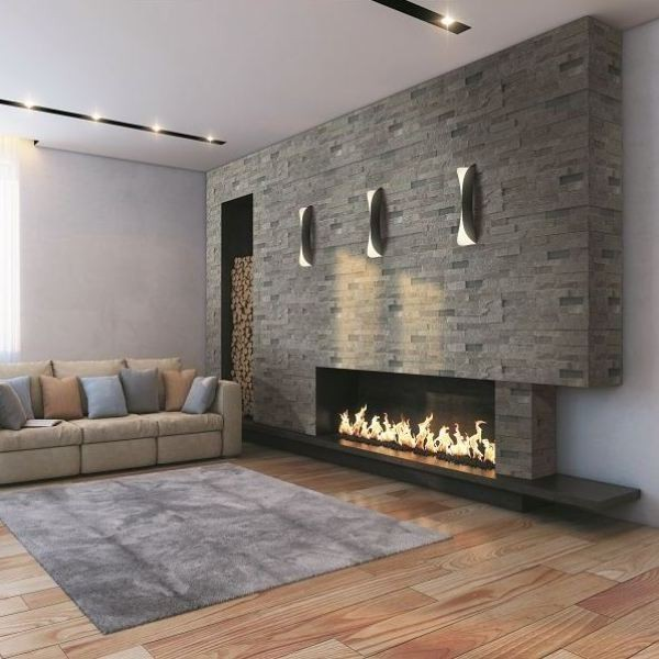 Amazing Tiled Feature Walls Living Room Part - 3: Petra Grey Split Face Tiles - Natural Stone Wall Tiles - Direct Tile  Warehouse Contemporary-