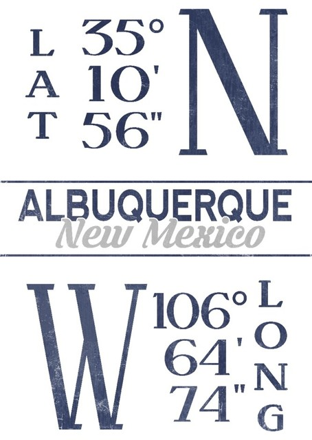 Quot Albuquerque New Mexico Latitude And Longitude Blue
