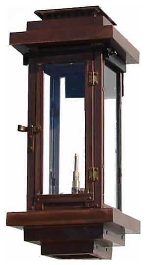 Contemporary Copper Gas Lantern