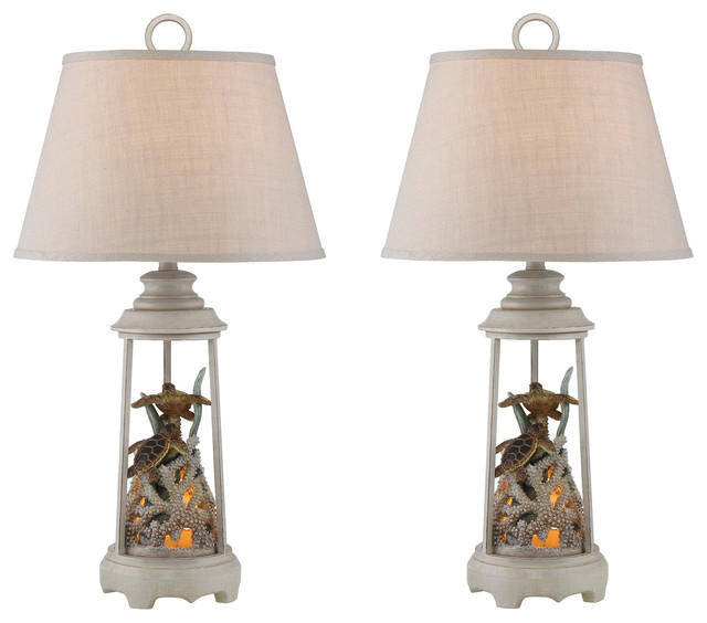 Seahaven Turtle Reef Table Lamp, Set Of 2, Ivory by Studio 21