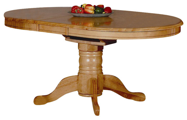 Erfly Leaf Dining Table In Light Oak Finish