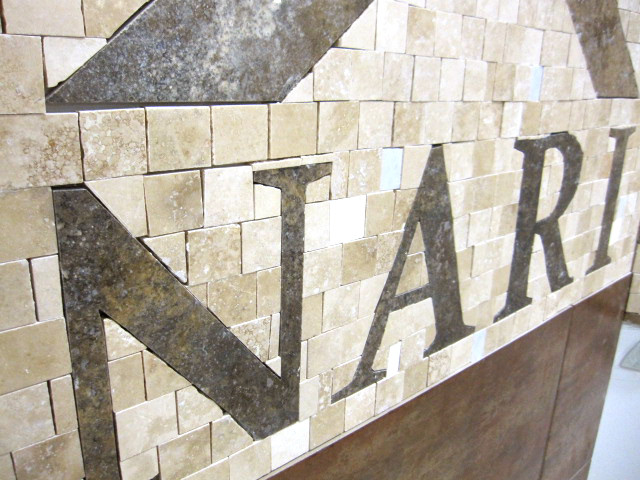 left side logo angle pre-grout