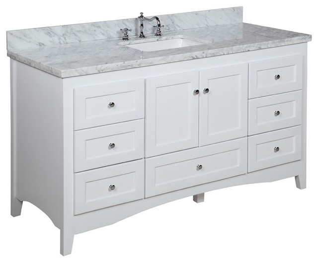 Abbey 60 Bath Vanity Transitional Bathroom Vanities And Sink