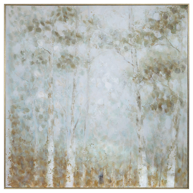Uttermost Cotton Woods Hand Painted Canvas