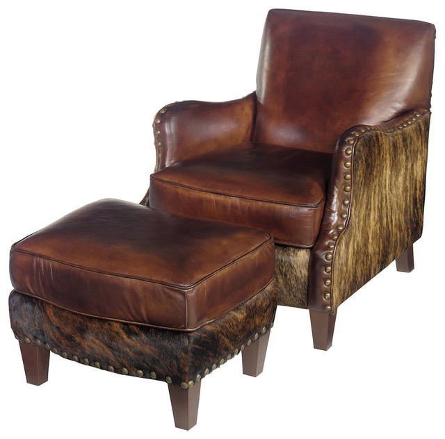 Lanelli Club Chair With Ottoman Southwestern Armchairs