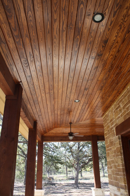 Example Of A Mountain Style Home Design Design In Houston