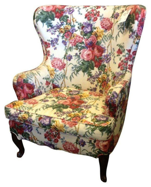 floral slipcovers for wingback chairs | Floral Wingback Chair