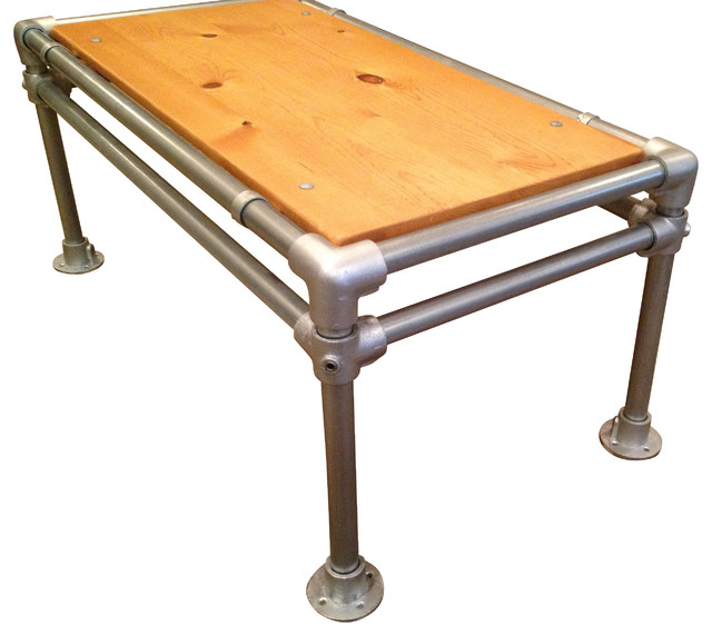 Reclaimed Wood Coffee Table Industrial By Hammerhead