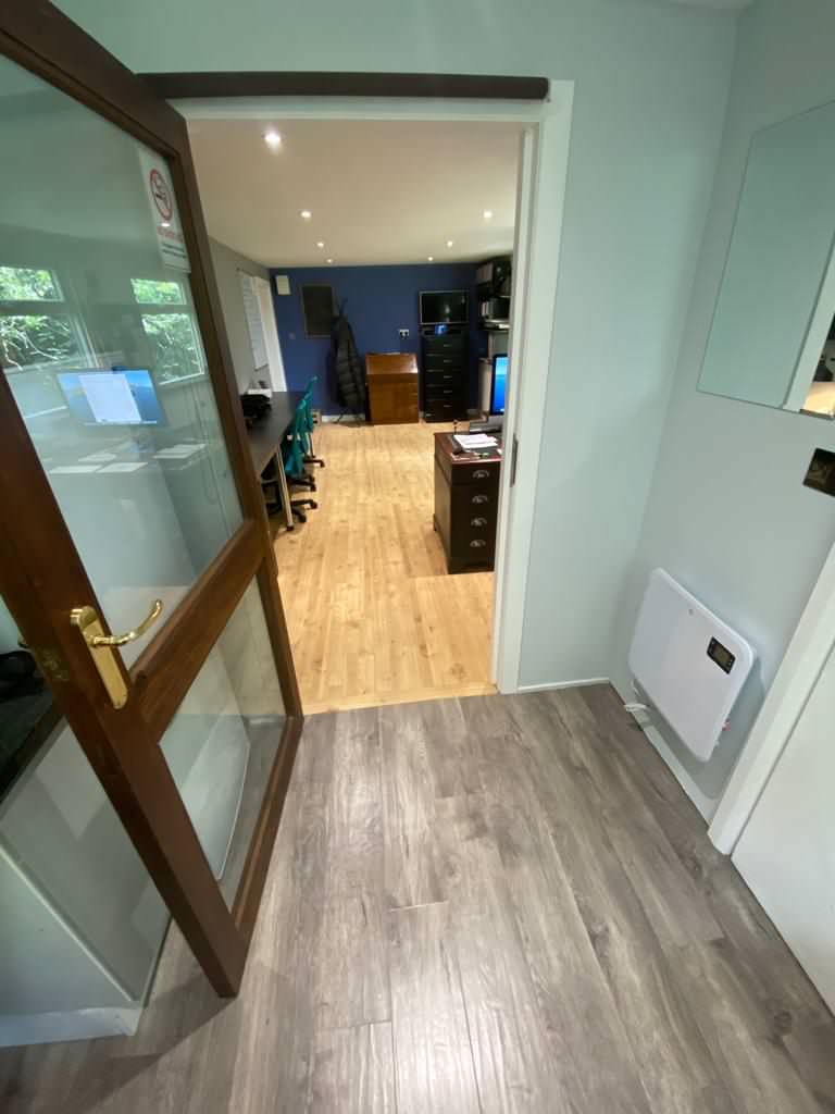 Conversion- yard space to Office -