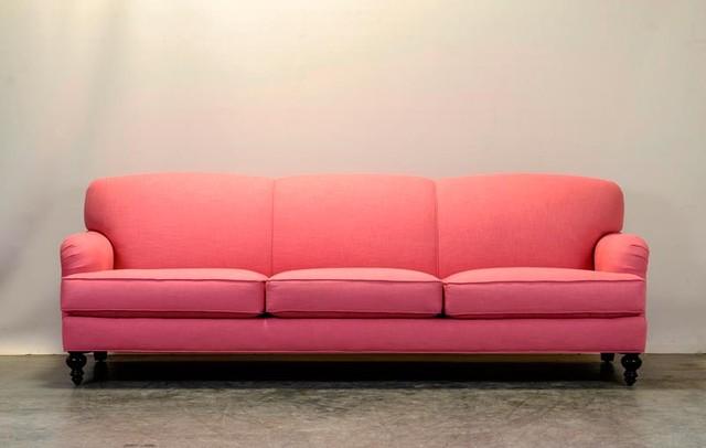 Pink Linen English Arm