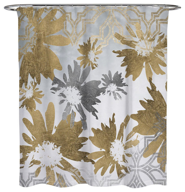 Oliver Gal Golden Garden Shower Curtain, 71x74 by The Oliver Gal Artist Co.
