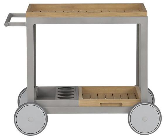 alfresco natural cart minimalistisch outdoor servierwagen von crate barrel. Black Bedroom Furniture Sets. Home Design Ideas