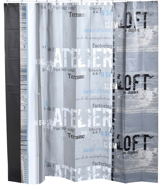 Printed Shower Curtain Industrial Shower Curtains By Evideco
